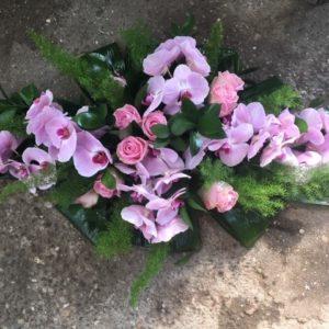 grafwerk paarse orchidee